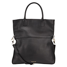 Buy Whistles Crescent Fold Over Leather Tote Bag Online at johnlewis.com