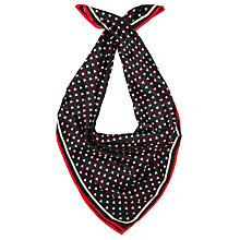 Buy Somerset By Alice Temperley Boat Print Silk Square Scarf, Black Online at johnlewis.com
