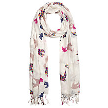 Buy John Lewis Paisley Swallow Scarf, Cream Online at johnlewis.com