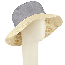 Buy John Lewis Chambray Crown & Braid Sun Hat, Blue Online at johnlewis.com