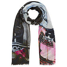 Buy Faye Et Fille Metro Square Scarf, Blue Online at johnlewis.com