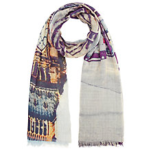 Buy Fay Et Fille London Scene Scarf, Multi Online at johnlewis.com