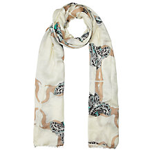 Buy John Lewis Paisley Elephant Scarf, Cream Online at johnlewis.com