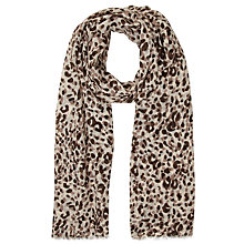 Buy John Lewis Animal Spot Scarf, Cream Online at johnlewis.com