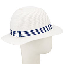 Buy John Lewis Small Brim Summer Hat, White Online at johnlewis.com