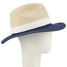 Buy John Lewis Colour Block Fedora Hat, Multi Online at johnlewis.com