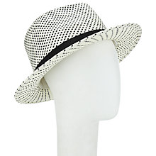 Buy John Lewis Fedora Hat, Cream/Black Online at johnlewis.com