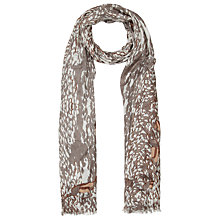 Buy John Lewis Leaping Springbok Scarf, Cream Online at johnlewis.com