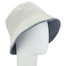 Buy John Lewis Reversible Bucket Hat, Stripe Online at johnlewis.com