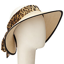 Buy John Lewis Visor With Scarf Tie, Cream Online at johnlewis.com