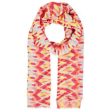 Buy John Lewis Batik Print Scarf, Orange Online at johnlewis.com