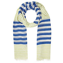 Buy John Lewis Graduated Stripe Scarf, Navy Online at johnlewis.com