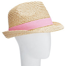 Buy John Lewis Raffia Trilby Hat, Natural Online at johnlewis.com
