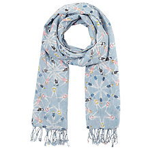 Buy John Lewis Synchronised Swimmers Cotton Scarf, Blue Online at johnlewis.com