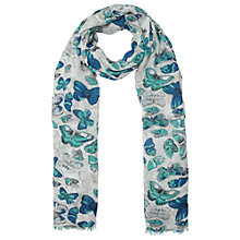 Buy John Lewis Layered Butterfly Scarf, Blue Online at johnlewis.com