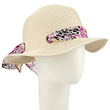 Buy John Lewis Small Brim Hat With Tie Online at johnlewis.com