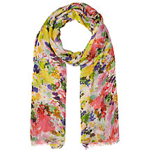 Buy John Lewis Blurred Flowers Scarf, Multi Online at johnlewis.com