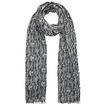 Buy Kin by John Lewis Wool Mono Textured Print Scarf,   Black Online at johnlewis.com