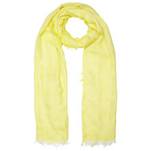 Buy John Lewis Basketweave Scarf, Yellow Online at johnlewis.com