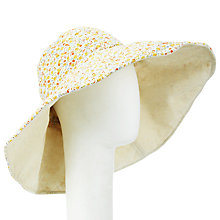 Buy John Lewis Reversible Wide Brim Hat, Floral Online at johnlewis.com