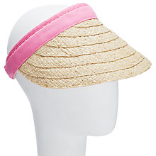 Buy John Lewis Raffia Cap Visor Sun Hat, Natural Online at johnlewis.com