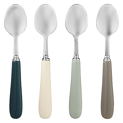 John Lewis Croft Collection Coffee Spoons, Set of 4, Assorted