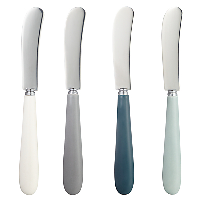 John Lewis Croft Collection Butter Knives, Set of 4, Assorted