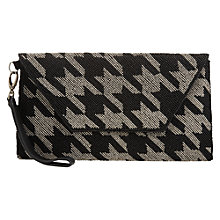 Buy Jigsaw beaded Envelope Clutch Bag, Black Online at johnlewis.com