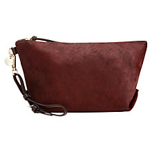Buy Jigsaw Eliza Pouch Bag, Burgundy Online at johnlewis.com