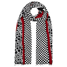 Buy Windsmoor Geo Stripe Scarf, Multi Dark Online at johnlewis.com