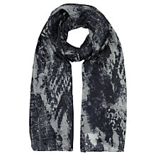 Buy Jigsaw Watermark Print Scarf, Blue Online at johnlewis.com
