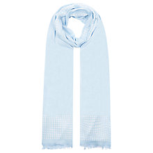 Buy Planet Oblong Spotted Scarf, Pale Blue Online at johnlewis.com