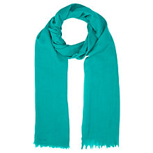 Buy Jigsaw Soft Wool Scarf, Teal Online at johnlewis.com