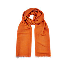 Buy Windsmoor Plain Scarf, Orange Online at johnlewis.com