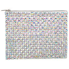 Buy Miss Selfridge Iridescent Embellished Clutch Bag, Silver Online at johnlewis.com
