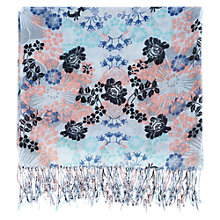 Buy Warehouse Lace Pattern Scarf, Light Blue Online at johnlewis.com