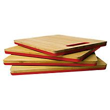 Buy Architec EcoSmart Fused Bamboo Large Chopping Board, Red Online at johnlewis.com