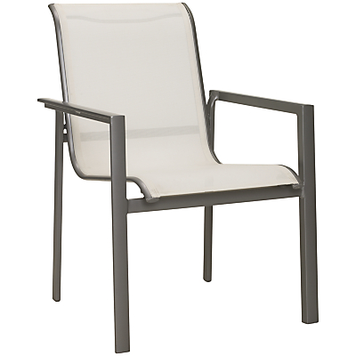 John Lewis Milo Outdoor Dining Chair, White