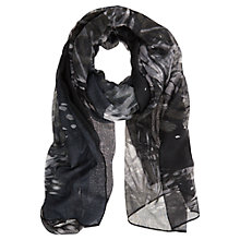 Buy Mint Velvet Felicia Print Scarf, Grey Online at johnlewis.com