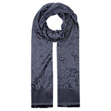 Buy Planet Animal Jacquard Scarf, Navy Online at johnlewis.com