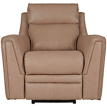 Buy Parker Knoll Carolina Semi-Aniline Leather Recliner Armchair, Como Mink Online at johnlewis.com