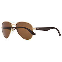 Buy Ray-Ban RB3523 Aviator Polarised Sunglasses Online at johnlewis.com