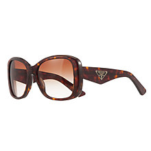 Buy Prada PR32PS Square Framed Polarised Sunglasses, Havana Online at johnlewis.com
