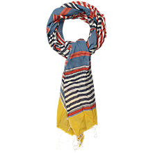 Buy Seasalt Abacus Striped Cotton Scarf, Multi Online at johnlewis.com