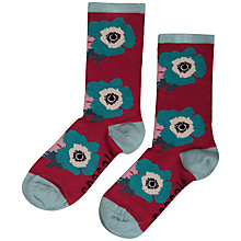 Buy Seasalt Floral Ankle Socks, Bloom Cranberry Online at johnlewis.com