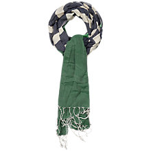 Buy Seasalt Awena Drake Scarf, Green Online at johnlewis.com