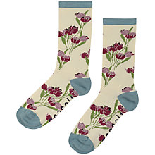 Buy Seasalt Floral Ankle Socks, Tulip Ecru Online at johnlewis.com