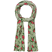 Buy Seasalt Rose Print Scarf, Green Online at johnlewis.com