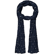 Buy Seasalt Anchor Print Cotton Scarf, Navy Online at johnlewis.com