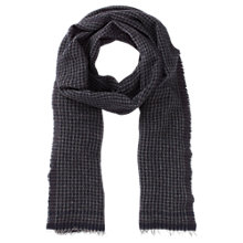 Buy Reiss Woven Wool Check Scarf, Navy/Grey Online at johnlewis.com